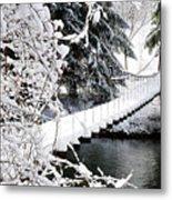 Swinging Bridge Over Gauley River Metal Print