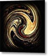 Swirl Design 2 Metal Print