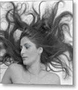 Swirl Girl Metal Print by Gerard Fritz