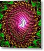 Swirledya-neonaya Catus 1 No.1 V A Metal Print