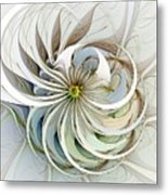 Swirling Petals Metal Print