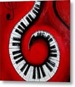 Swirling Piano Keys- Music In Motion Metal Print