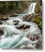 Swirling Waters - Tawhai Falls Metal Print