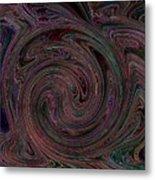 Swirlpool Neon Metal Print