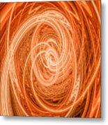 Swirls Of Orange Metal Print