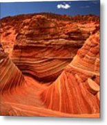 Swirls Waves And Buttes Metal Print