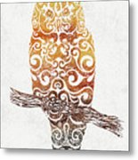 Swirly Owl Metal Print