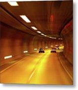 Swiss Alpine Tunnel Metal Print