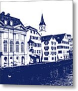 Swiss City Metal Print