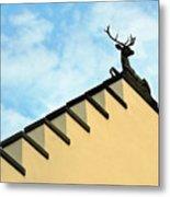 Swiss Deer On Zurich Rooftop Metal Print