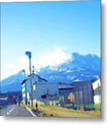 Swiss Road Metal Print