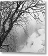 Swiss  Snow Fall Metal Print
