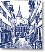 Swiss Street Metal Print