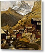 Swiss Travel Poster, 1898 Metal Print