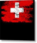Switzerland Gift Country Flag Patriotic Travel Shirt Europe Light Metal Print