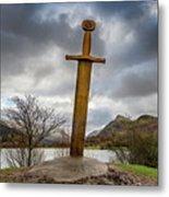 Sword Of Llanberis Snowdonia Metal Print
