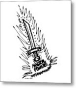 Sword With Magical Powers Metal Print