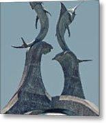 Swordfish Sculpture Metal Print