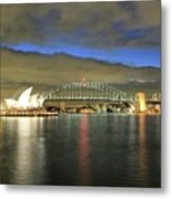 Sydney Harbor At Blue Hour Metal Print