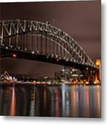 Sydney Harbor At Night Metal Print