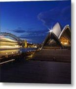 Sydney Opera House At Night Metal Print