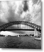 Sydney Harbor Bridge Black And White V2 Metal Print