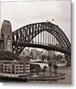 Sydney Harbor Bridge Platinum Metal Print