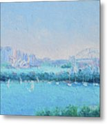 Sydney Harbour And The Opera House Metal Print
