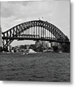 Sydney Harbour Bridge In Black And White Metal Print
