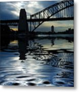 Sydney Harbour Bridge Reflection Metal Print