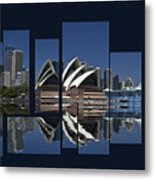 Sydney Harbour Collage Metal Print
