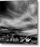 Sydney Skyline With Dramatic Sky Metal Print