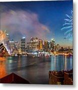 Sydney Sparkles Metal Print