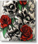 Syfy- Skulls Metal Print