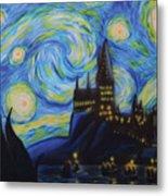 Syfy- Starry Night In Hogwarts Metal Print