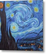 Syfy- Starry Night In Mordor Metal Print