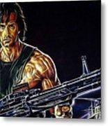 Sylvester Stallone Collection Metal Print