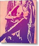 Sylvia Kristel Emmanuelle Metal Print by Giuseppe Cristiano