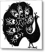 Symbol: Peacock Metal Print
