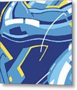 Symphony In Blue - Movement 4 - 3 Metal Print