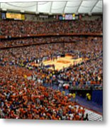 Syracuse Orange Carrier Dome Metal Print
