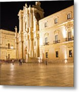 Syracuse, Sicily, Italy - Ortigia Downtown In Syracuse By Metal Print