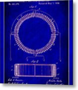 System Of Electrical Distribution Patent Drawing 1c Metal Print