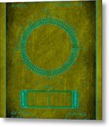 System Of Electrical Distribution Patent Drawing 1d Metal Print