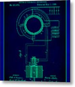 System Of Electrical Distribution Patent Drawing 2a Metal Print