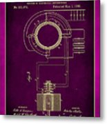 System Of Electrical Distribution Patent Drawing 2c Metal Print