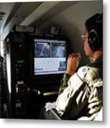System Operator Operates A Console Metal Print