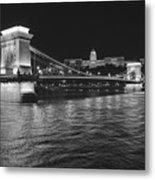 Szechenyi Chain Bridge Budapest Metal Print