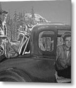 T-04902 Travelling To Climb In Style 1955  Metal Print