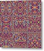 T J O D Mandala Series Puzzle 3 Variations 1-9 Metal Print